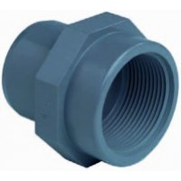 "Raccordo PVC 2"" filettato femmina - 50mm incollare maschio"