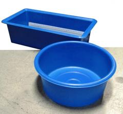 Vasche Per Laghetti Plastica.Vasche Per Ispezione E Misurazione Delle Carpe Da Laghetto